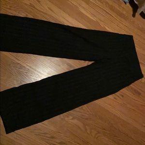 Black stripped lululemon pants